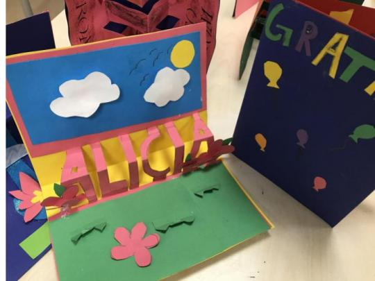 Year 4 Pop-up cards and books
